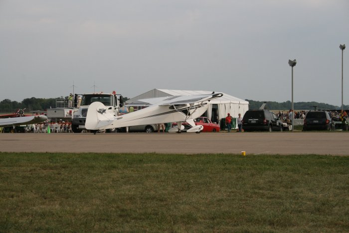 1946 Taylorcraft for Sale http://pilotbill.com/Oshkosh/Oshkosh07/AV07_Airshow.html